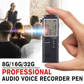 Wiederaufladbare Digital Voice Recorder REC Aufnahme Stift mit Omnidirektionale Kondensator Mikrofon Hintergrundbeleuchtung LCD Bildschirm VAR USB-SPRACHAUFZEICHNUNGSANLAGE-DIKTAPHON-MP3-PLAYER VOR