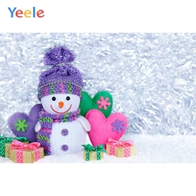 Yeele Christmas Photocall Bokeh Light Snowman Gifts Photography Backdrops Personalized Photographic Backgrounds For Photo Studio цена
