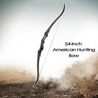 30-50Ibs Black Recurve Bow Length 54 Inches Riser Length 17 inches Adults American Bow for Archery Hunting Shooting CS Shooting