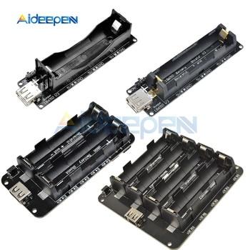цена на 1 2 4x18650 Lithium Battery Shield V3 V8 V9 Mobile Power Expansion Board Module 5V/3A 3V/1A Micro USB For Arduino ESP32 ESP8266