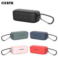 FIFATA-funda de silicona para auriculares QCY T5, carcasa para auriculares inalámbricos con Bluetooth, marco de carga, Fundas protectoras para Qcy T5