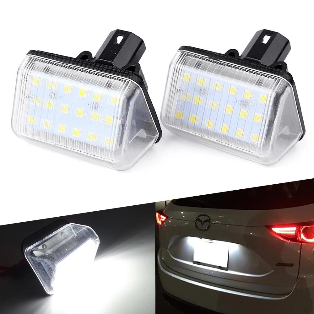 2x LED LICENSE NUMBER PLATE LIGHT MAZDA CX-5 KE 1ST GEN CANBUS