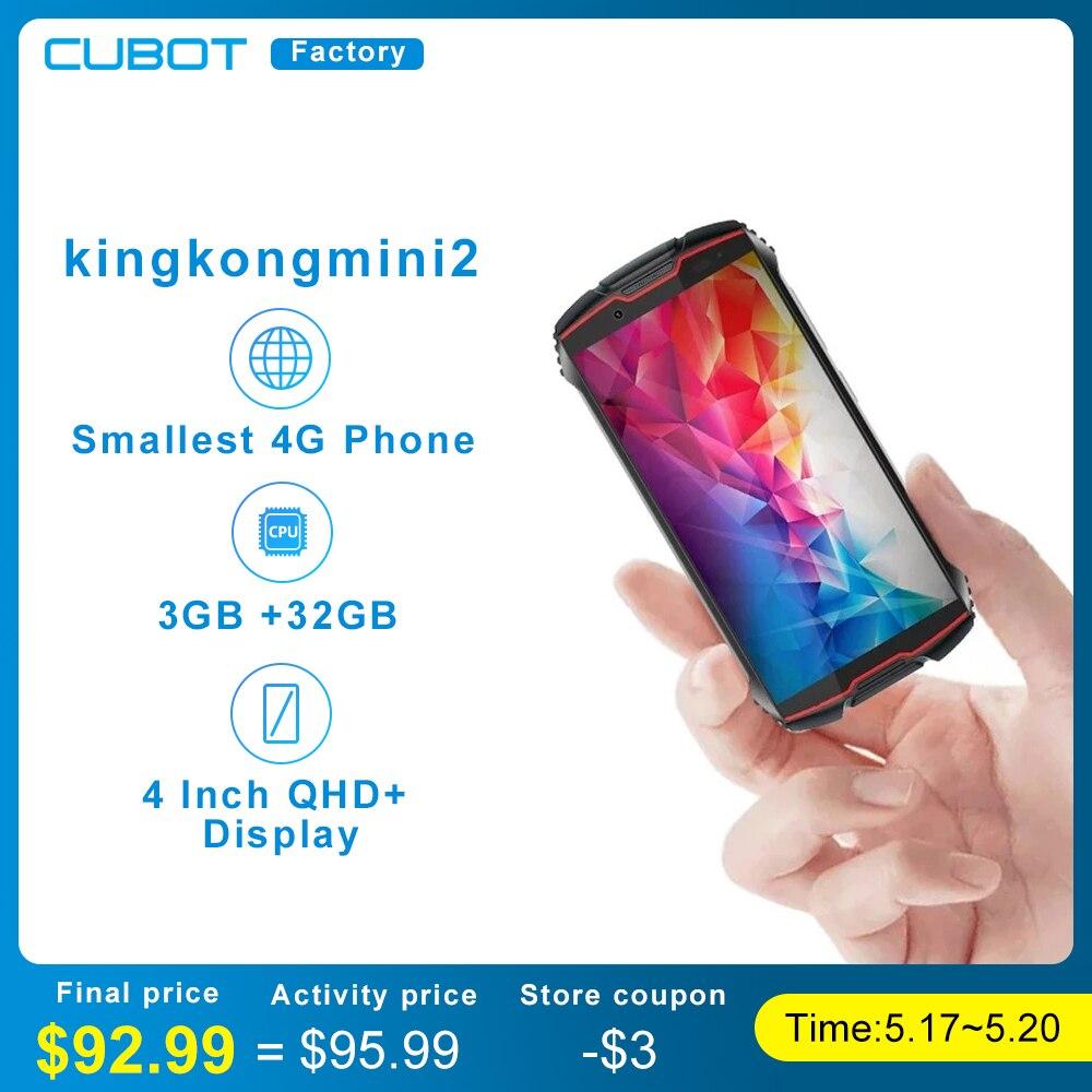 Cubot Kingkong Мини 2 Прочный смартфон Android 10,0 пирог 4 дюйма высококачественны Дисплей пылезащитный прочный Водонепроницаемый мобильный телефон ...