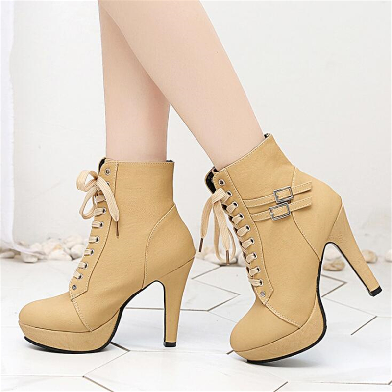 Women Boots Ankle Boots For Women Platform Female Girl Leather Boots Luxury Shoes Women Designers High Heel Boots