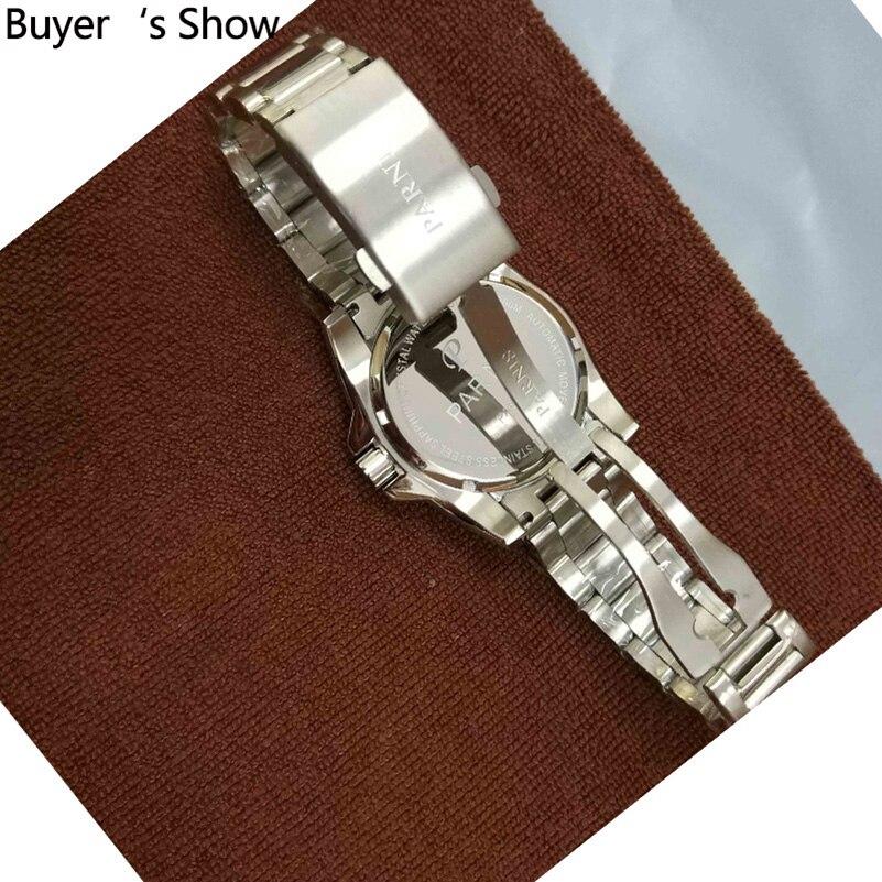 Parnis Automatische Diver Horloge Waterdicht 200 M Metalen Mechanische Mannen Horloges Saffier Glas Lichtgevende - 3