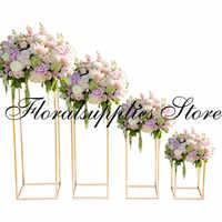10 шт. свадебные декорации подставка для свадебных торжеств декоративная ваза для цветов Золотая витрина