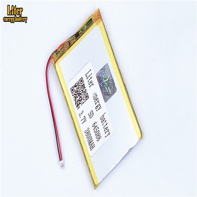 1.5MM 2pin Connector 3.7V 645088 3800mah High Density Flat Lipo Lithium Polymer Battery Li Ion Battery