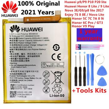 3000mAh dla Huawei P9 Ascend P9 Lite G9 honor 8 honor 5C G9 EVA-L09 honor 8 lite P10 Lite Nova Lite Honor 6C Pro V9 Play bateria tanie i dobre opinie 2801 mAh-3500 mAh Oryginalny CN (pochodzenie) HB366481ECW