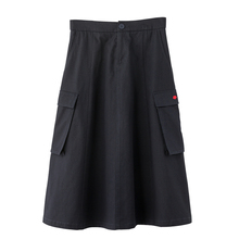 INMAN 2020 Spring New Arrival Plain Cotton Series Xinjiang Cotton Literary Loose Slimmed High Waist A line Skirt