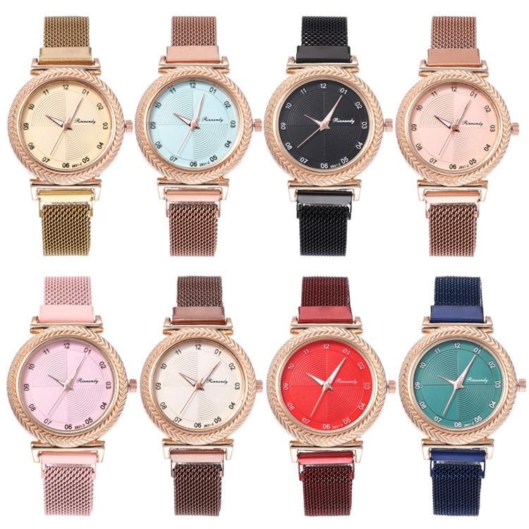 Milan Fashion Belt Series Bracelet Watch Exquisite Multicolor Plane Figures With Ribbon Watch Joker Lady Wrist Watch