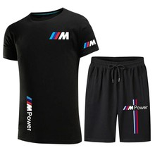 2021 new hot sale printed T-shirt sports suit couple quick-drying casual running wear summer short-sleeved shorts 2-piece se