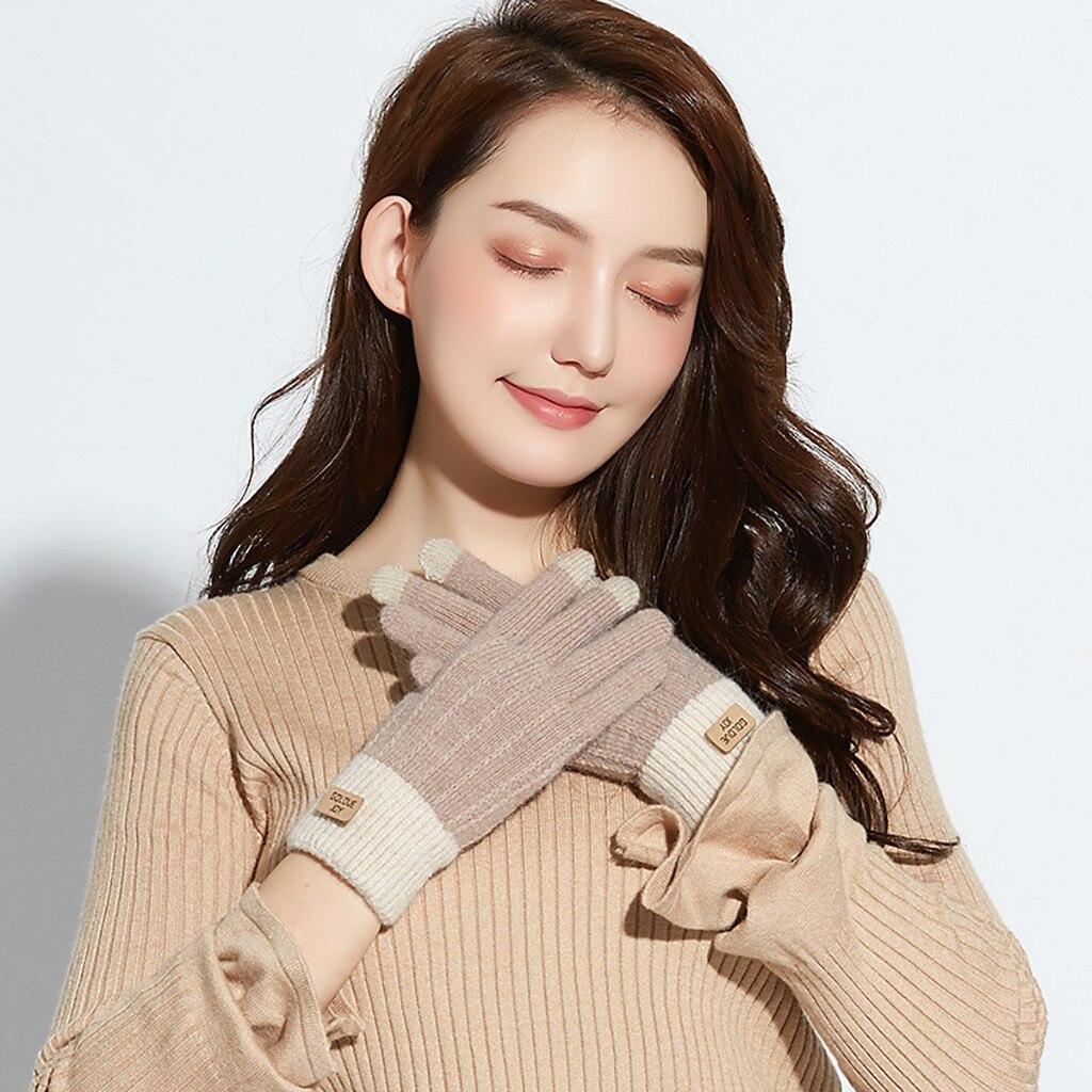 Women Cute Play Mobile Phone Warm Gloves Soft Cotton Winter Gloves winter gloves перчатки тактические 2019 New Arrival #30