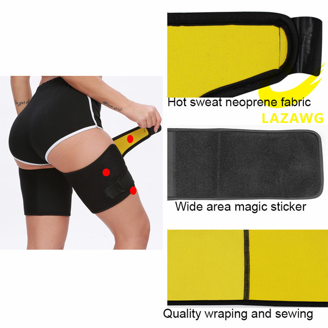 LAZAWG Leg Belt Sweat Thigh Trimmer Sweat Band Leg Slimmer Weight Loss Neoprene Gym Workout Corset Thigh Slimmer Tone Legs Strap 1