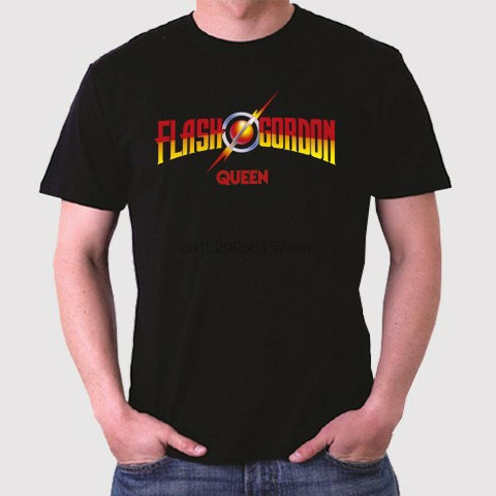 Queen Rock Band Legend Flash Gordon Album Men Black T-Shirt Size S to 3XL(China)
