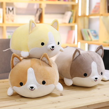 Happy Chuppy Corgi-Dog Plush Toy Stuffed Soft Animal Cartoon Pillow Cute Christmas Gift for Kids Romantic Valentine Present sexy new huggable corgi dog plush toys husky soft kawaii animal cartoon stuffed sofa pillow lovely christmas presents for kids