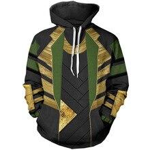 Тор: Темный мир LOKI Косплей Костюм пуловер 3D Толстовка мужская женская унисекс куртка пальто