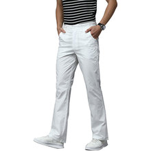 Trousers Summer Fiared-Pants Spring Stretch Business Thin Black White Korean-Version