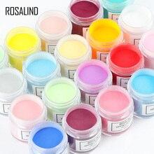 ROSALIND Juego de polvo de inmersión para uñas, Set de esmalte de uñas en Gel para manicura, 10g de Polvo de pigmento de cromo