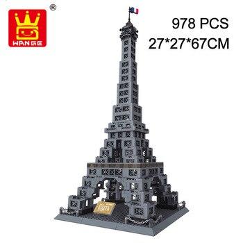 WANGE World Famous Architecture Series The Eiffel Tower Of Paris-France Construction Building Blocks Bricks Toys For Children