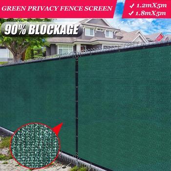 Green Fence Privacy Screen Windscreen,Heavy Duty Backyard Privacy Fence Balcony Deck Privacy Screen with Bindings & Grommets