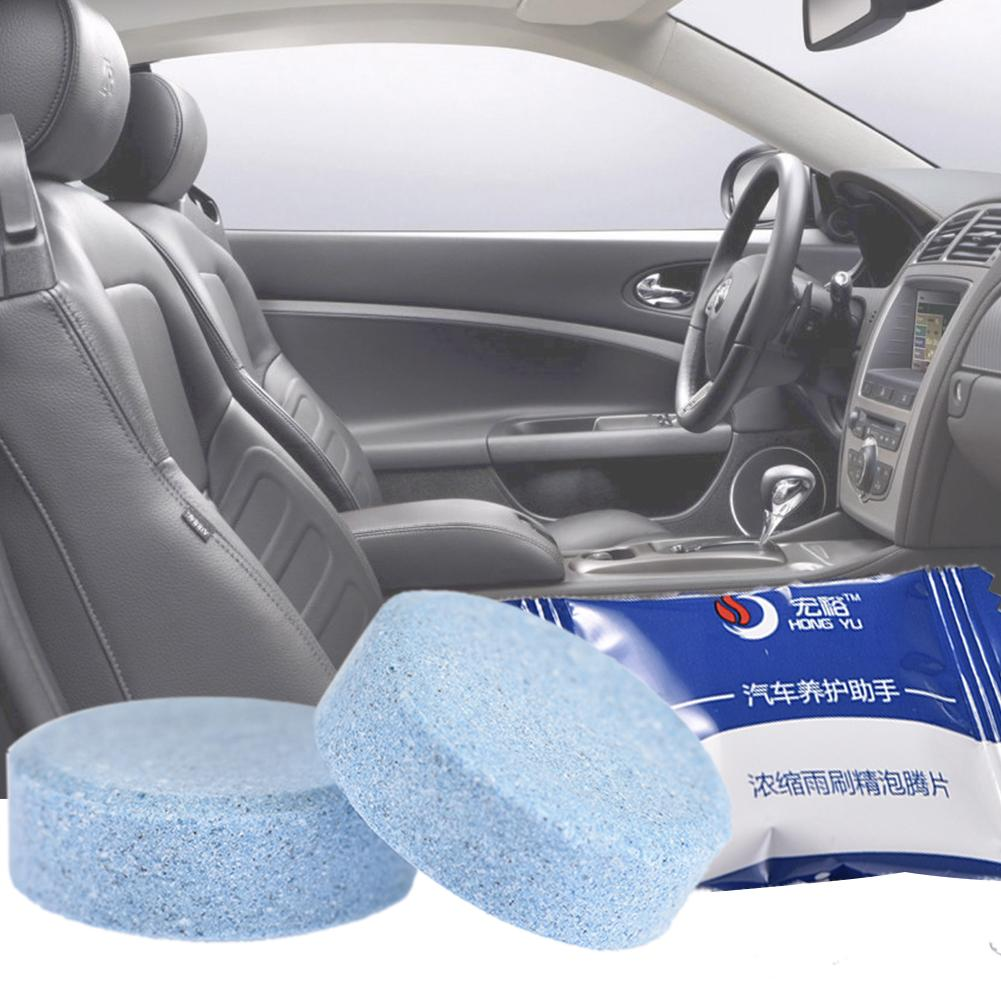 10pcs/set Auto Glass Cleaner Condensed Effervescent Tablet Wiper Water Solid Wiper Concentrated Super Car Care Tool