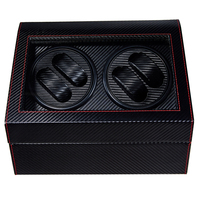 Rotating 4+6 Automatic Watch Winder Box PU Leather Watch Winding Storage Box Collection Display Double Head Silent Motor Box