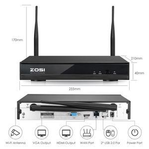 Image 4 - ZOSI 1080P אלחוטי טלוויזיה במעגל סגור מערכת 8CH חזק H.265 + NVR 8pcs 2MP IP Bullet CCTV מצלמה WiFi אבטחה מערכת מעקב ערכות