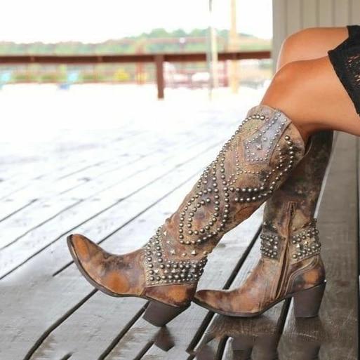 New Women Summer Boots zipper Low Heel Women Shoes Cool British Rivet Design Soft Short Boots Party Shoes Dropshipping 5