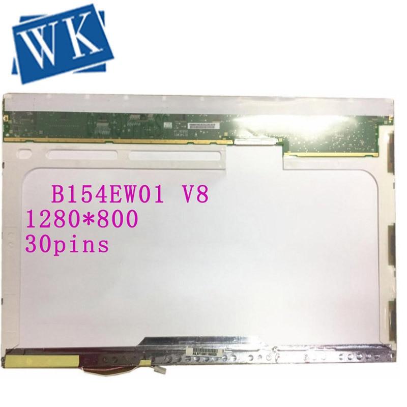 Free shipping B154EW01 V8 V.8 V.9 B154EW01 V.5 B154EW01 V.0 LP154WX5-TLC2 N154I1-L0B Laptop lcd screen 1280*800 LVDS 30pins