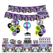 Мульти-стиль замок игра есть курица игра Дети День рождения украшение торта, выпечки флаг воздушный шар