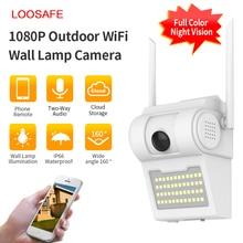 1080P açık WiFi IP kamera kablosuz 48 LED ışık IR ses Video IP66 su geçirmez ev bahçe CCTV güvenlik avlu izleme