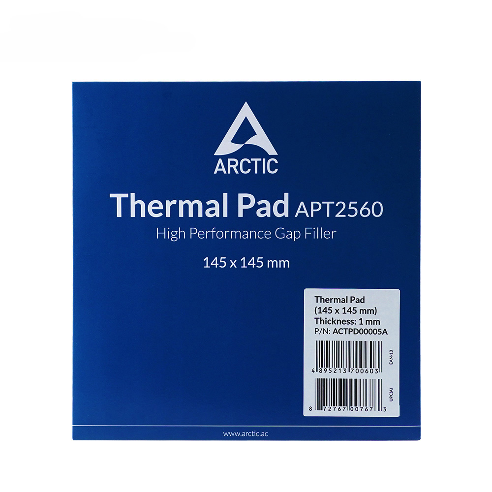 ARCTIC Thermal Pad 6.0 W/mK Conductivity 0.5mm 1.0mm 1.5mm Thermal Mat 145*145MM Thermally Conductive Adhesive 3