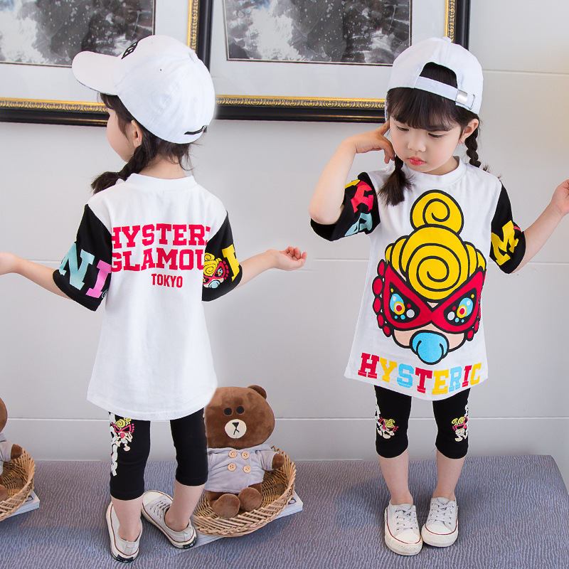 Baby Girls Clothes Set Summer Cartoon Mini Hysteric Short Sleeve T-shirt Shorts Pants High Quality  Bebe Girls Troddler Clothes