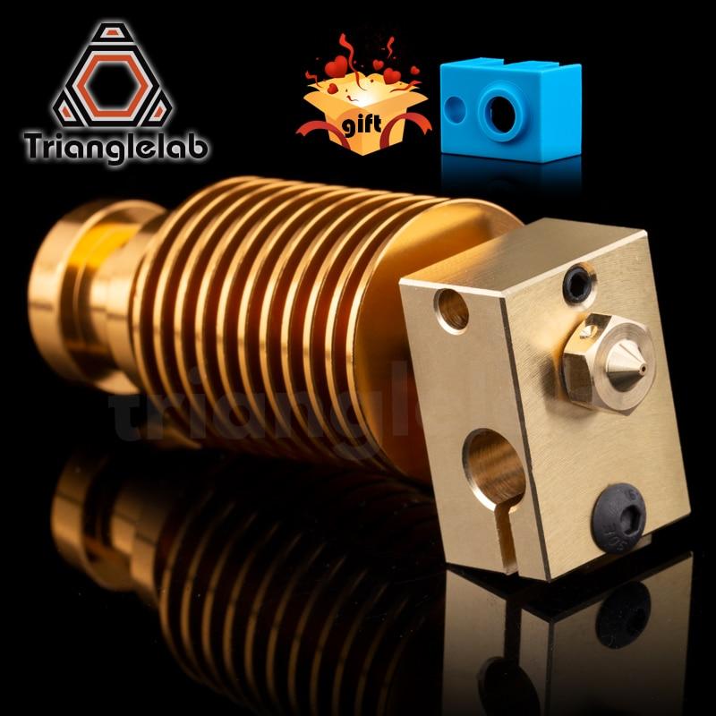 HQ gold heatsink V6 Brass heater block hotend J-head heater block heat break Nozzle for E3D HOTEND for titan extruder