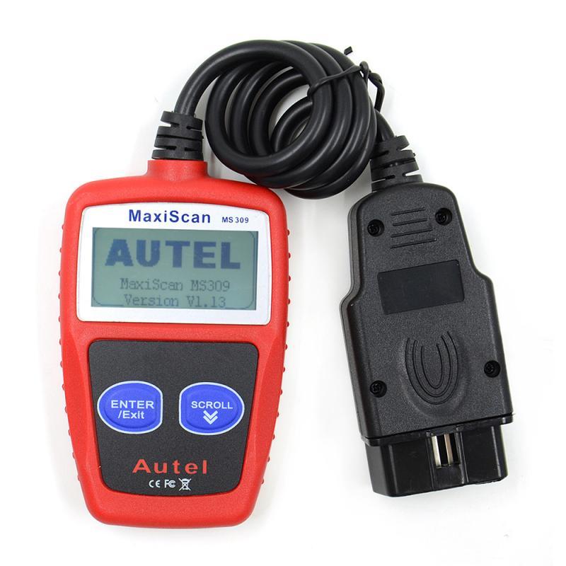 MS309 CAN BUS OBD2 сканер Код неисправности автомобиля считыватель неисправностей двигателя автомобиля диагностический инструмент сброса автомо...