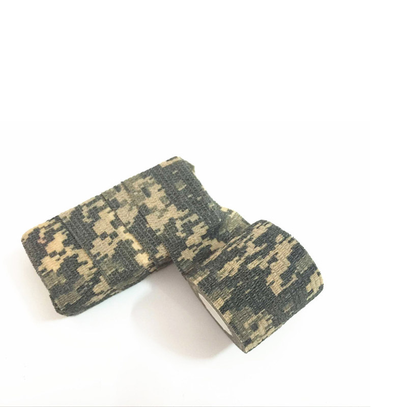 5PCS Self-Adhesive Woodland Desert <font><b>Camouflage</b></font> Tape Outdoor Military Camo Gun <font><b>Bike</b></font> Wrap Tape for Rifle Hunting Cycling Camping image