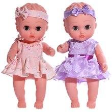 Mode Puppe Mädchen Spielzeug Rebron Baby Puppen Voll Körper Silikon Puppe Weiche Haut Tragen Schöne Rock Bebe Baby Puppen Für mädchen Geschenke