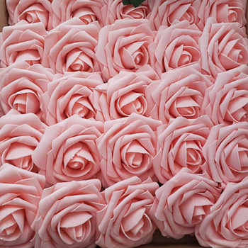 10/20/30 Heads 8CM Artificial PE Foam Rose Flowers Bride Bouquet Flower For Wedding Party Decorative Scrapbooking DIY Flower
