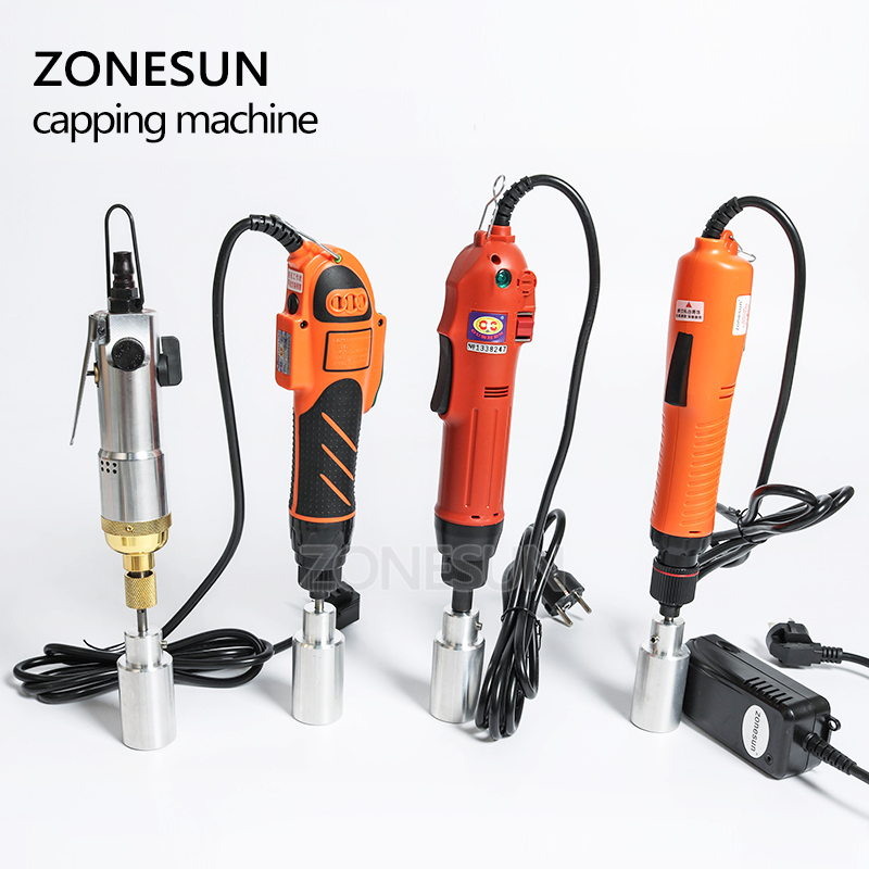 Screwing Capping Capper Bottle Ring ZONESUN  TOOL Optional CAPPING Mix Security Up Automatic Machine