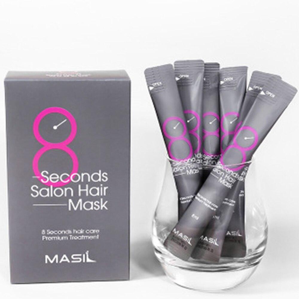 8 Seconds Salon Hair Mask Hair Care Premium Treatment Keratin Repairing Supple Hydration Cream Dry Damaged Hair Treatment 8ml