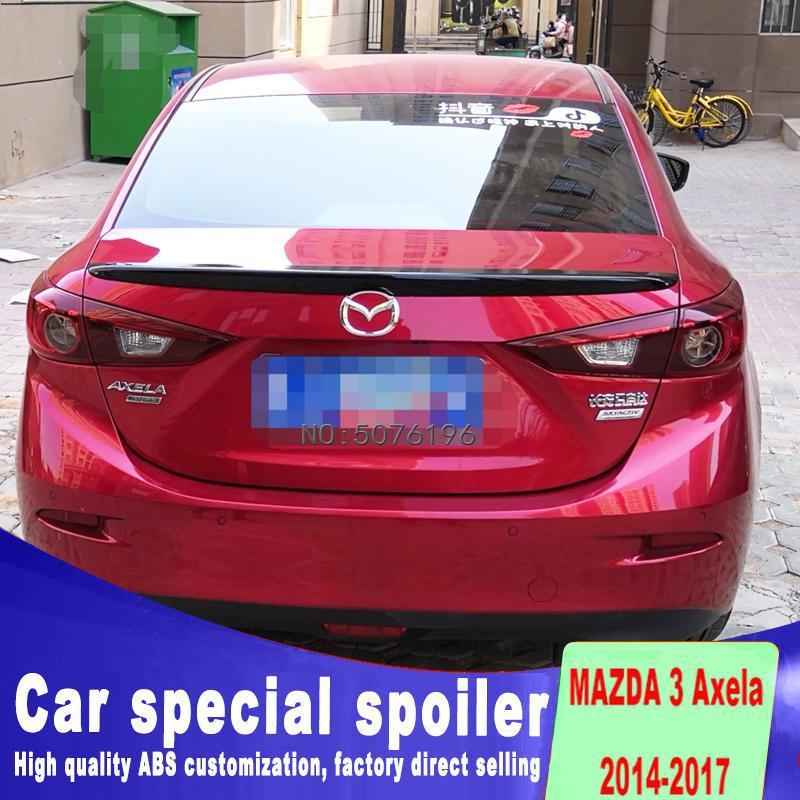 Per Mazda 3 Axela Auto Decorazione 2014 2015 2016 2017 M6 Stile GT ABS di Plastica Pittura della Vernice di Colore Posteriore del Tronco spoiler - 2