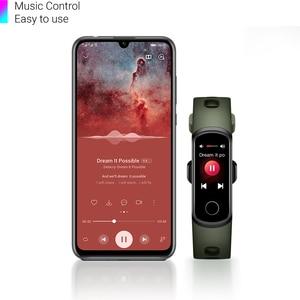 Image 3 - Reloj inteligente Huawei Honor Band 5i, reloj inteligente con Control de la música y del oxígeno en sangre y del ritmo cardíaco, Monitor de salud, caras y enchufe USB