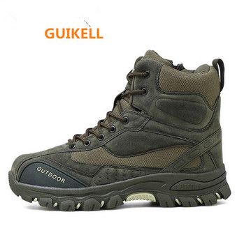 GUIKELL 2020 New Men Boots Ankle Rubber Military Combat Boots Men Sneakers Casual Shoes Outdoor Work Safety Boots