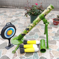 Soft Bullet Gun Children's Jedi Mortars Model Can Launch Rockets Shooting Simulation Military Acoustooptic Toys Outdoor Toys