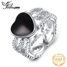 JewelryPalace Vintage Amore 4.4ct Genuine Black Onyx Intrecciate Fascia di 925 Anello In Argento Sterling Per Le Donne 2018 Nuova Vendita Calda