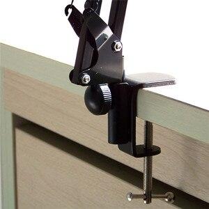 Image 5 - Erweiterbar Aufnahme Mikrofon Halter Suspension Boom Scissor Arm Ständer Halter mit Mikrofon Clip Tisch Montage Clamp