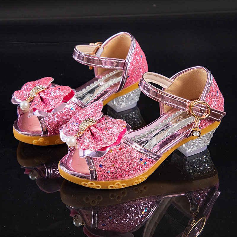 Children Bow Knot Sandals Kids Summer Wedding Party Princess Shoes