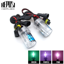 2x white Purple Pink Green Deep Blue H1 35W 4300K 6000K 8000K HID Xenon Bulbs xenon Car Driving hid Headlight Bulb Fog Light 12V hot sale new hot high quality and brand double hid 35w h1 xenon kit led fog tail turn drl head bulb 12v