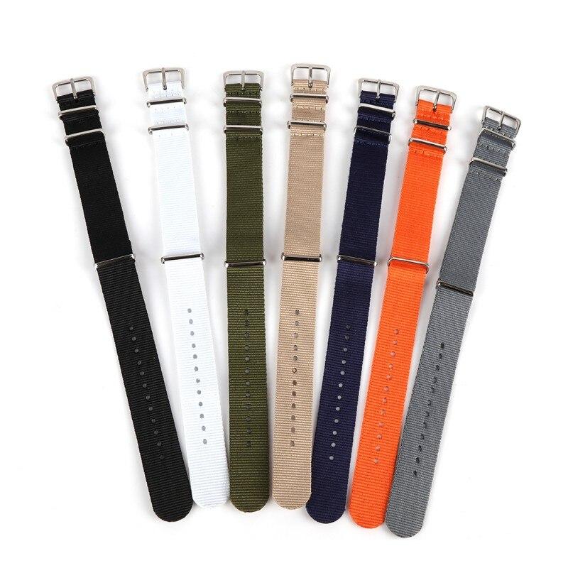 Woven Watchbands Nylon Sport Loop Watch Band 18mm 20mm 22mm Wrist Strap For Watch Femal