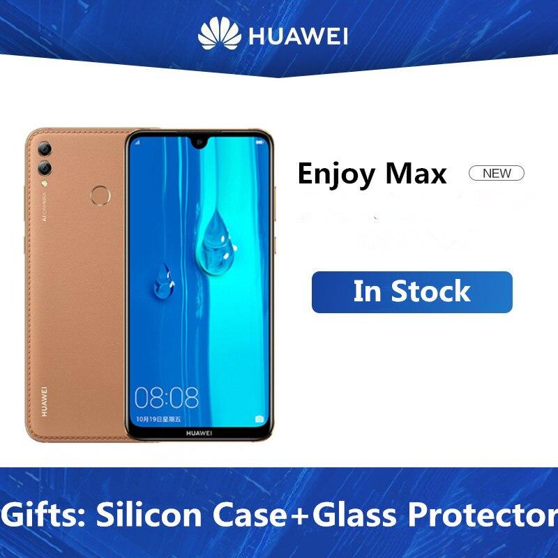"""Dhl entrega rápida huawei desfrutar max 4g lte telefone celular android 9.1 7.12 """"fhd 2240x1080 6 gb ram 128 gb raom 16.0mp impressão digital"""